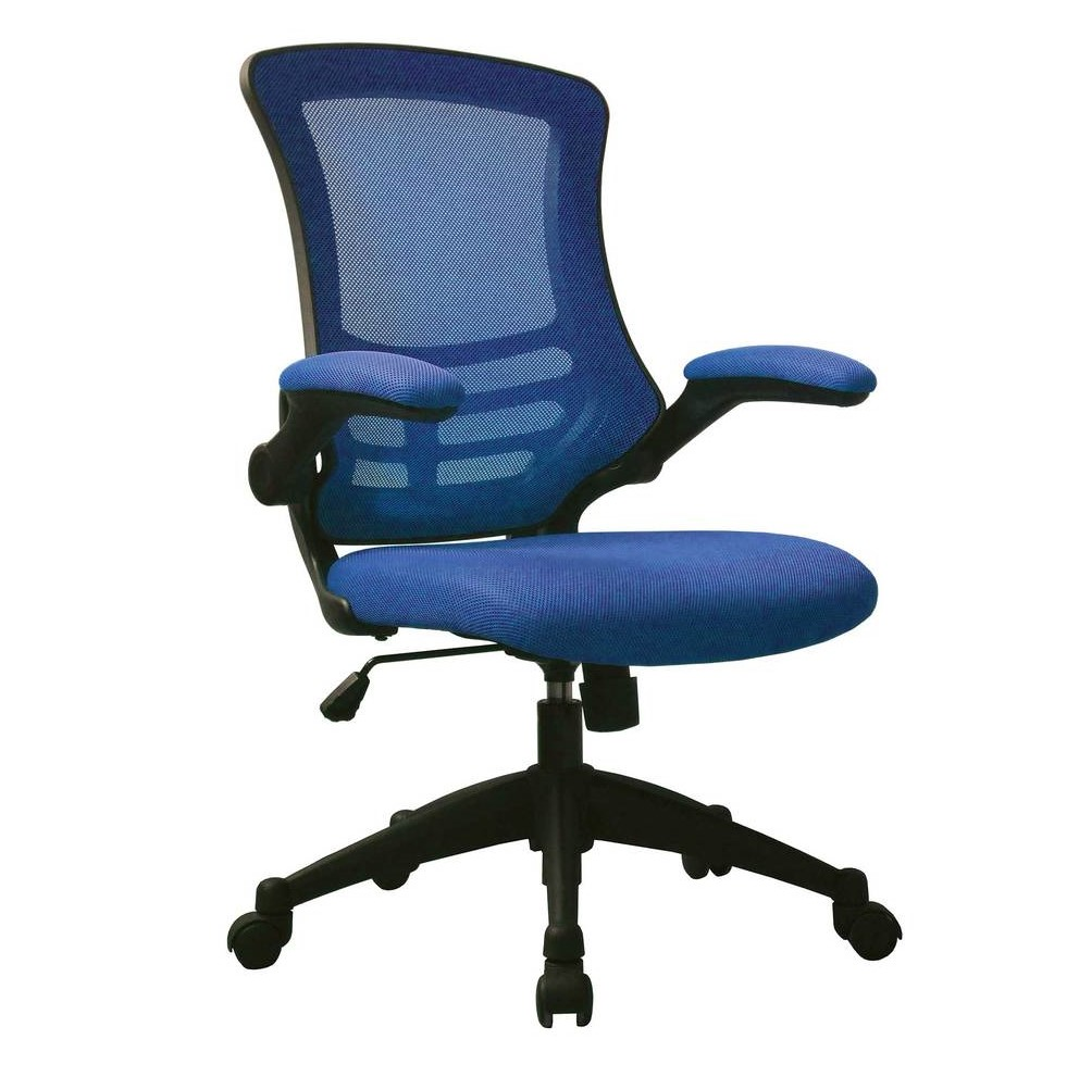 Apollo operator chair blue mesh and black frame