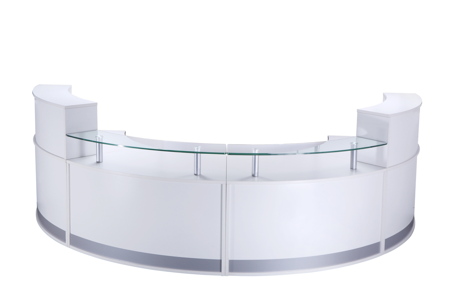 Furniture furniture seating storage operator seating - Curved Modular Reception Counter Somercotes Office