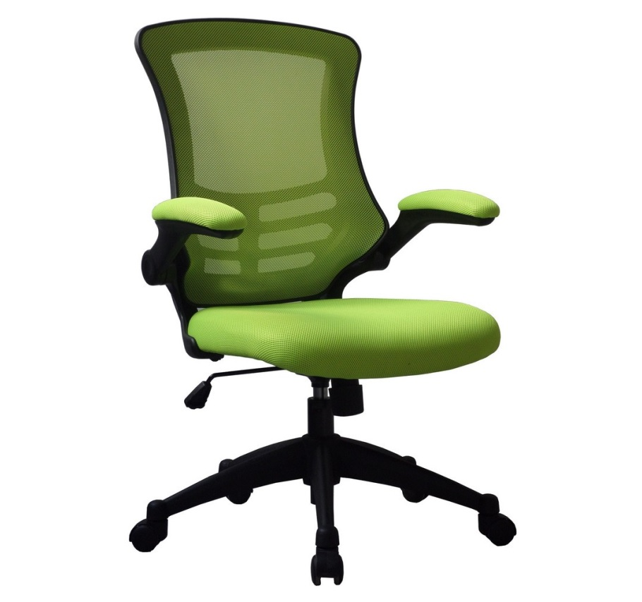 luna mesh chair with folding arms somercotes office furniture ltd