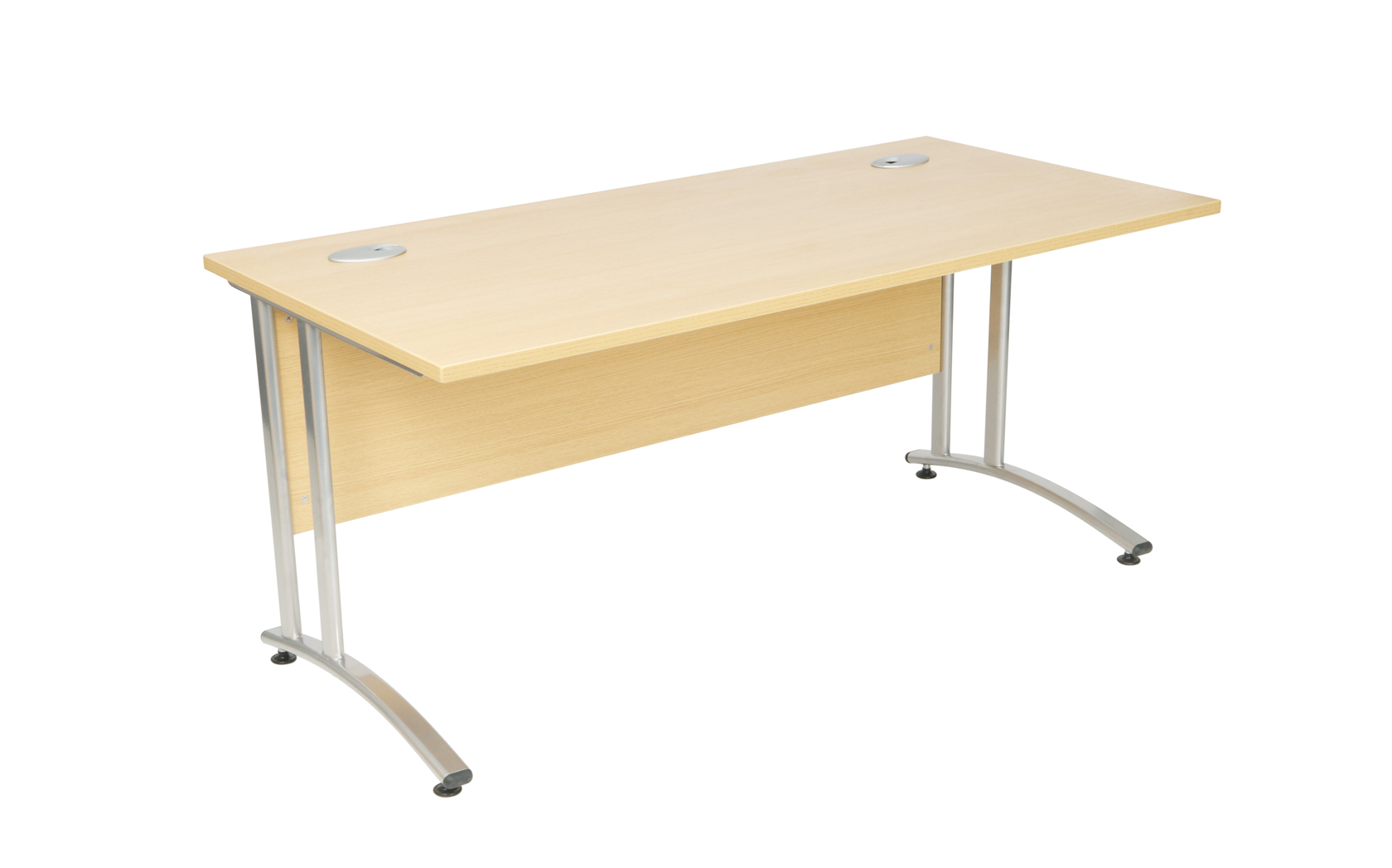 Rectangular Workstation Rcm1602 Rcm1601 3mm Abs Edging Desk Adjustable Foot Metal To Fixings 80mm Cable Port