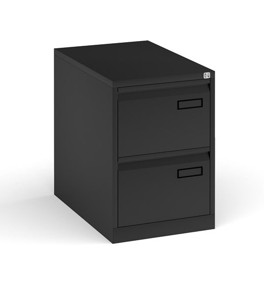 2 drawer filing cabinet - black