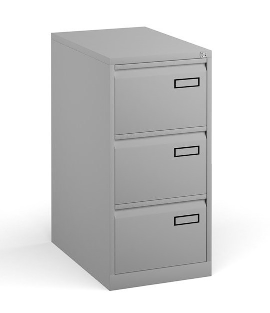 3 drawer filing cabinet - grey