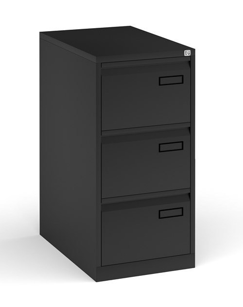 3 drawer filing cabinet - black