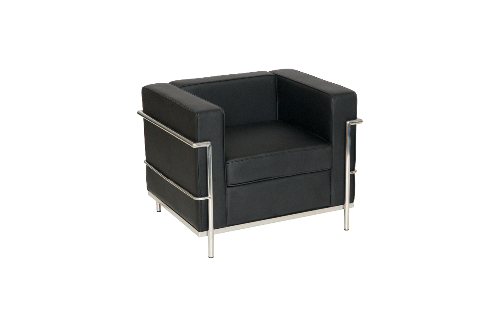 Leather reception chairs for home office - Le Corbusier Style Armchair Sj009 1 Somercotes Office
