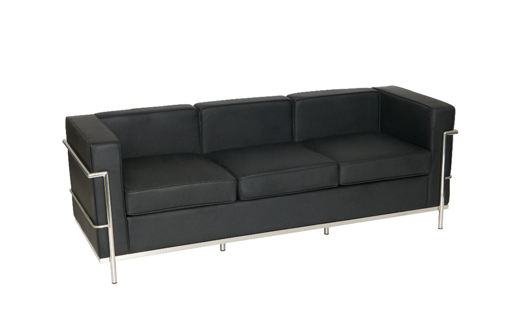 le corbusier style three seater sofa sj009 3 somercotes office furniture ltd. Black Bedroom Furniture Sets. Home Design Ideas