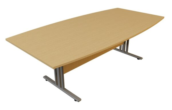 i frame boat shaped meeting table