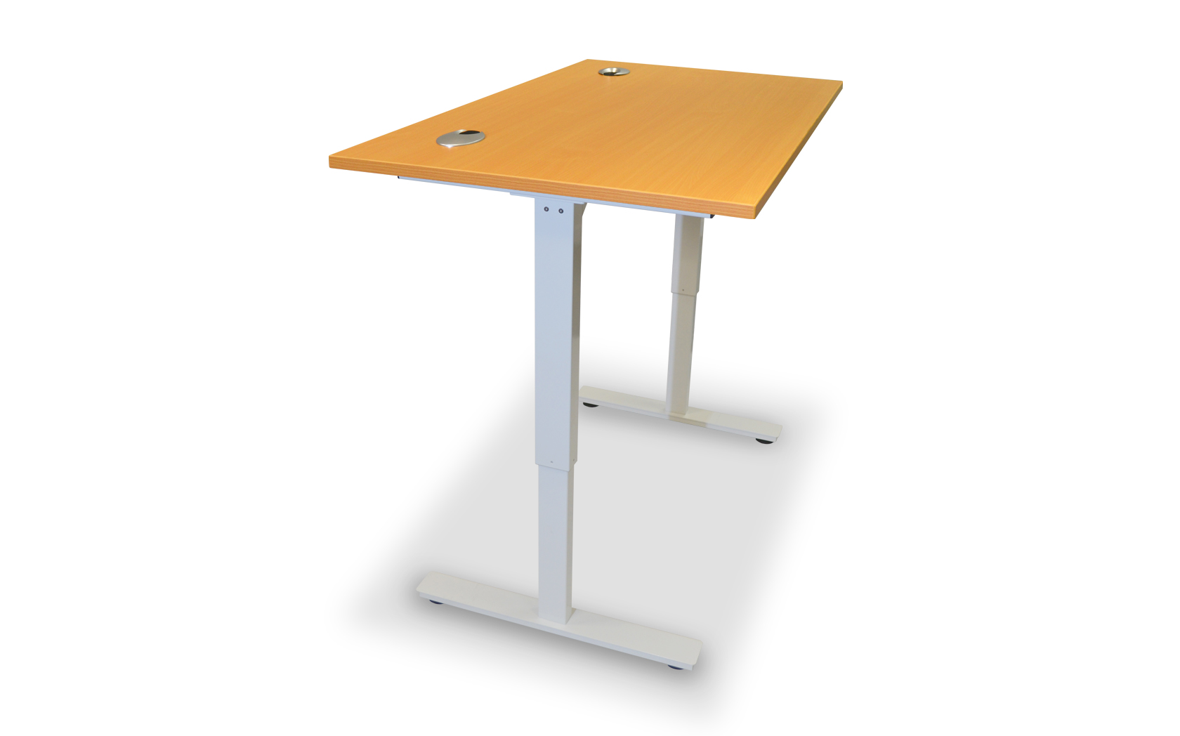 Electric height adjustable desk somercotes office - Average office desk height ...