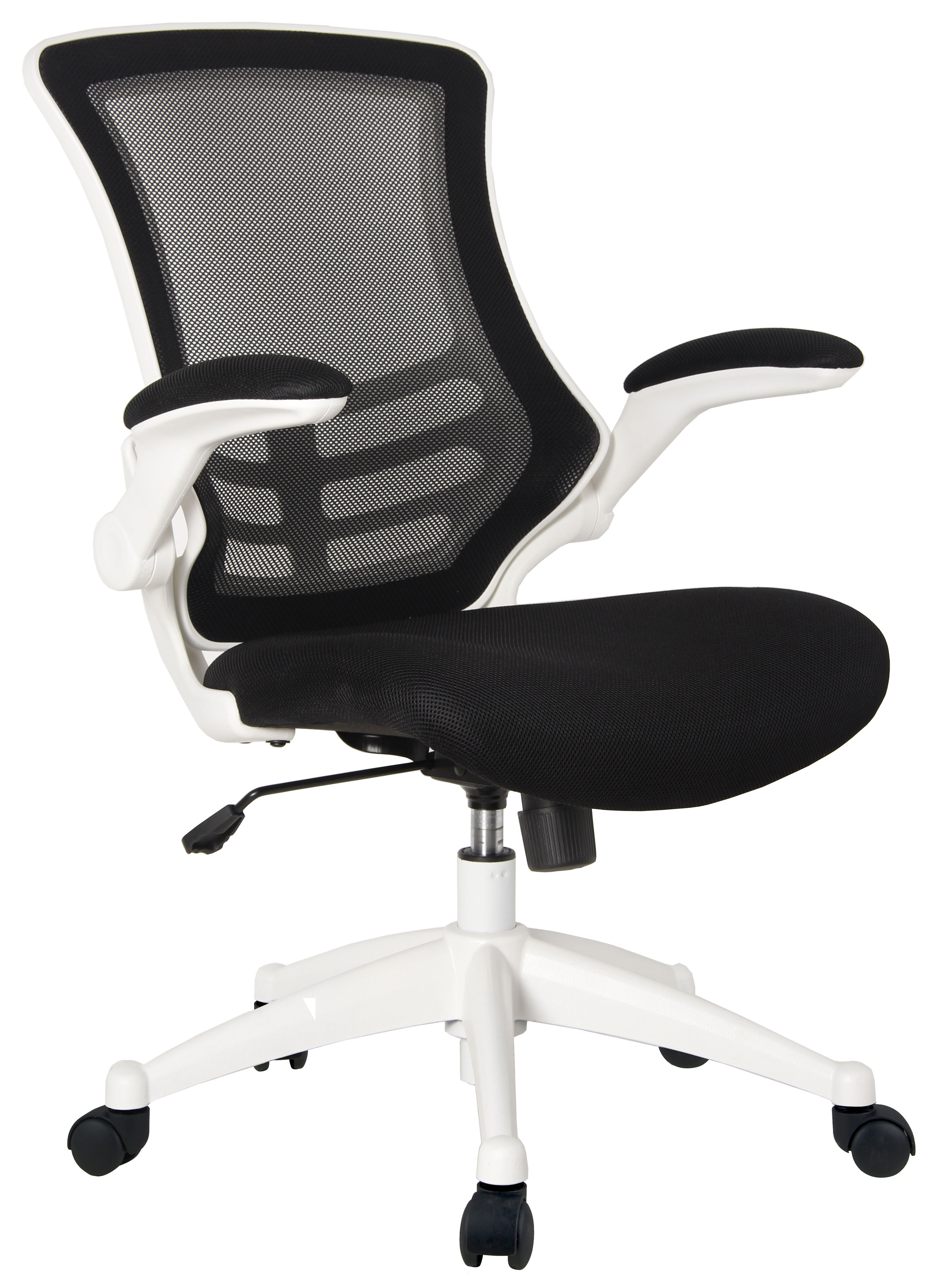 Mesh OP White Black Mesh Back Operator Chair with White