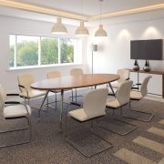 2400 OVAL TABLE ROOMSET – VIEW 1