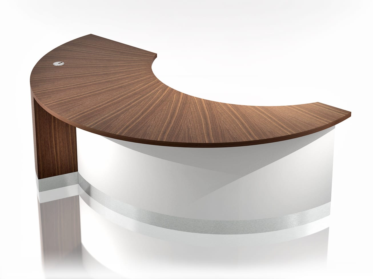 CR0020 – CRESCENT RECEPTION DESK standard – View 1