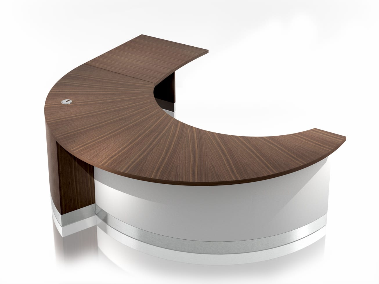 CR0120 – CRESCENT RECEPTION DESK standard & return – View 1A