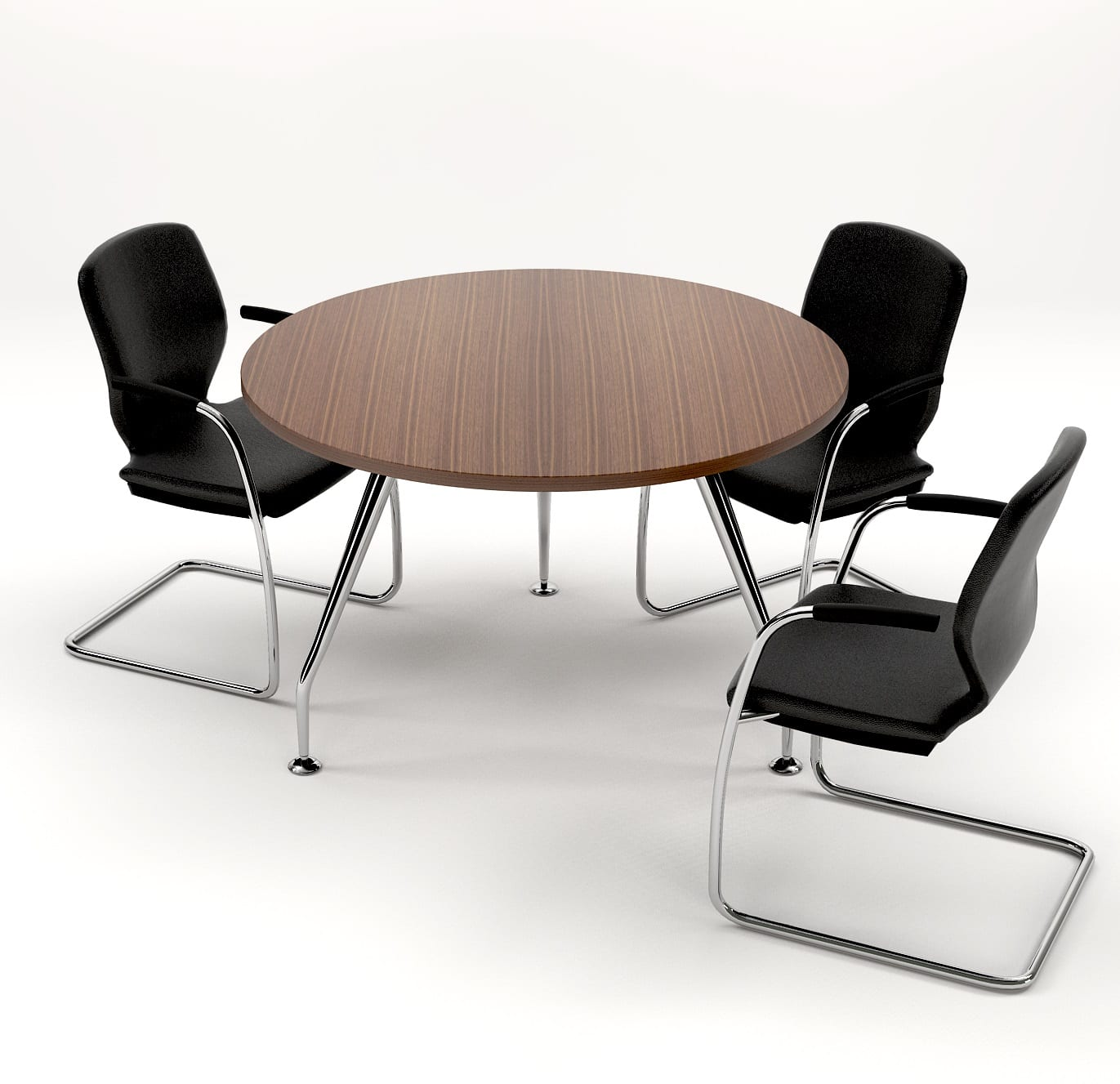 ZENITH 1200dia MEETING TABLE- ANGLE VIEW (2)