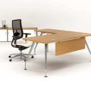 ZENITH 1800 EXEC DESK LH RETURN MODESTY – OAK 1
