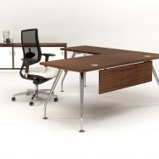 ZENITH 1800 EXEC DESK LH RETURN MODESTY – WALNUT 1