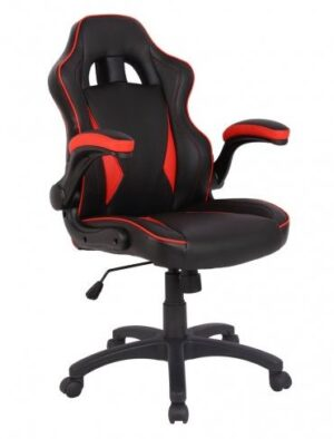 Predator chair red accents