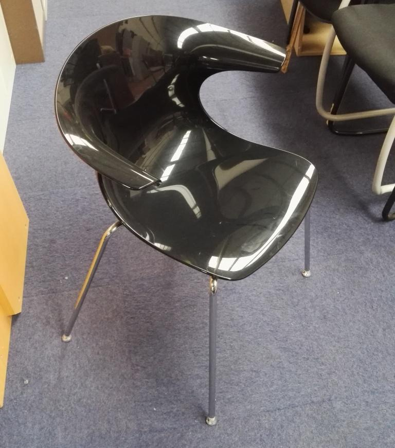 Black Plastic Bucket Canteen Chair Somercotes Office