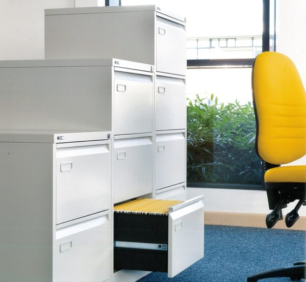 Metal Filing cabinets 2,3 and 4 drawers -grey