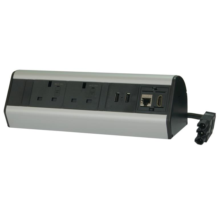 desktop black and silver power module