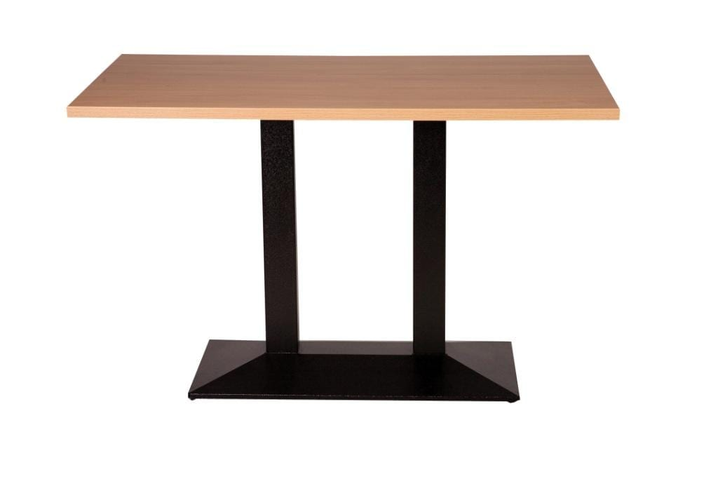 Quattro twin dining base with oak top_edited