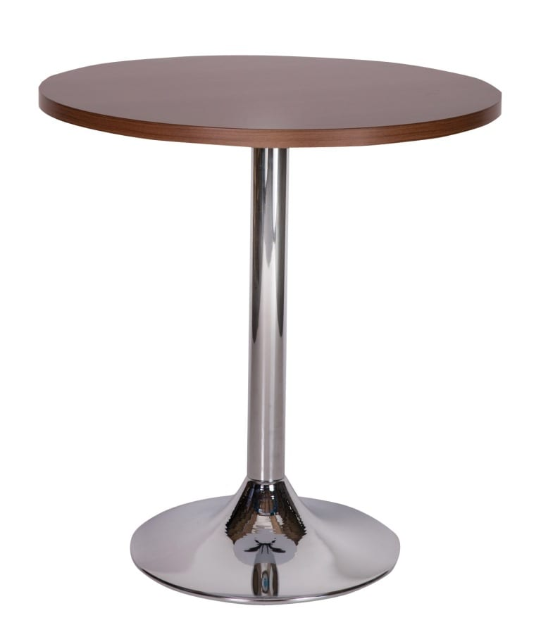 Ramiro chrome trumpet dining base with walnut top_edited