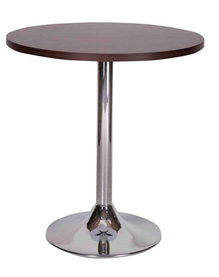 Ramiro chrome trumpet dining base with wenge top_edited