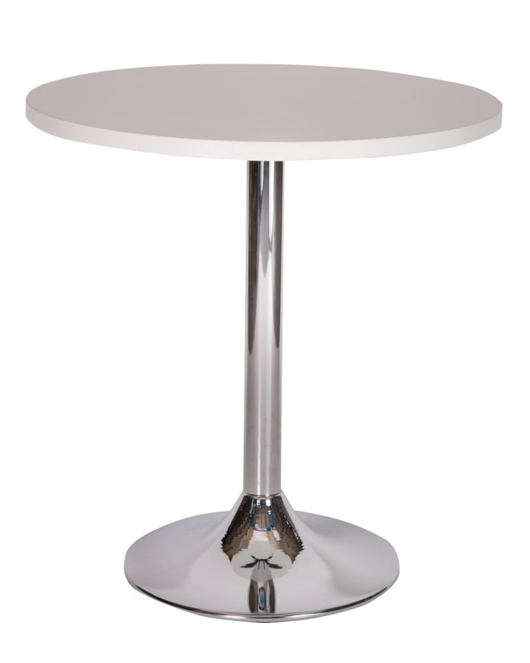 Ramiro chrome trumpet dining base with white top_edited