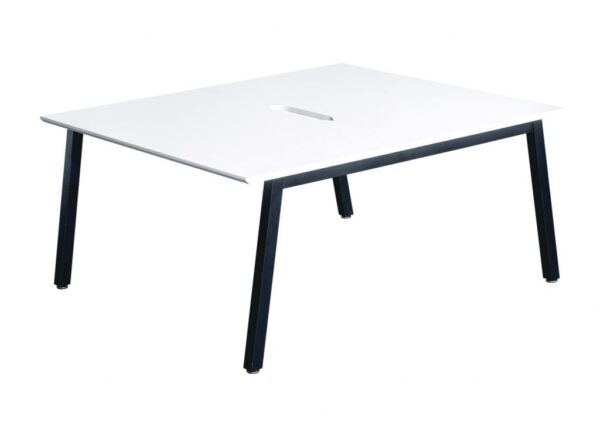 Office Interiors Double bench starter white and black