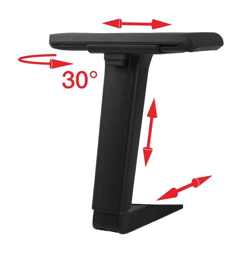 4D Arms Black (4D) (Height, Width, Pad Depth & 30° Rotation)