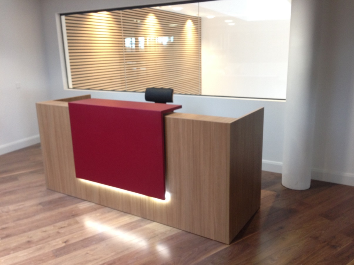 Z2 Straight Double Reception Counter Somercotes Office