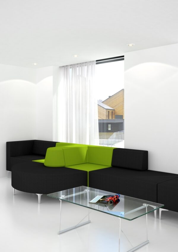 Evo modular reception seating