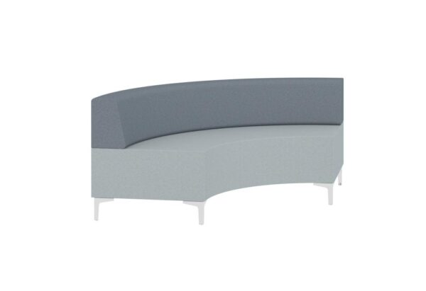 Evo modular reception seating curved piece with back
