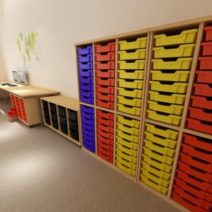 Tray Storage Units for Schools and Nurseries