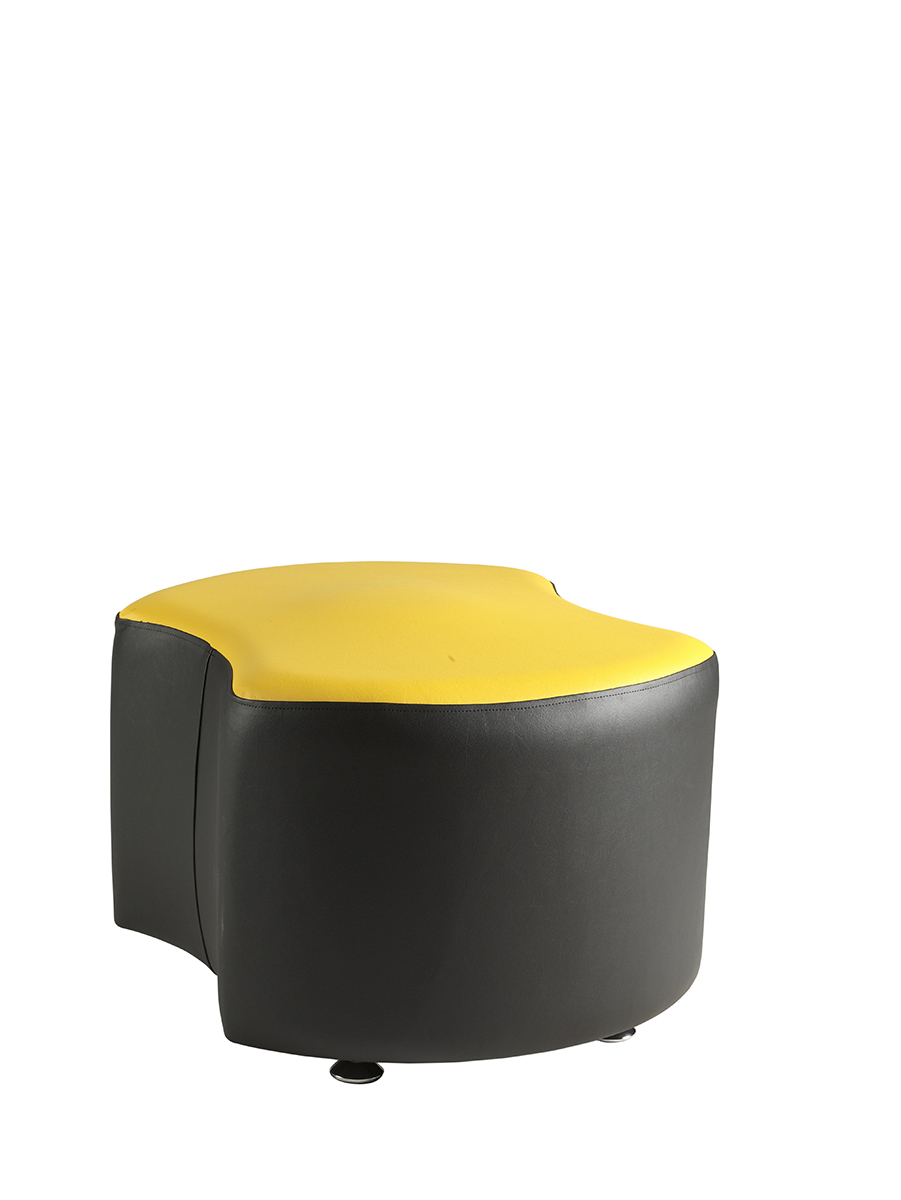 Dogbone seat black and yellow reception seating
