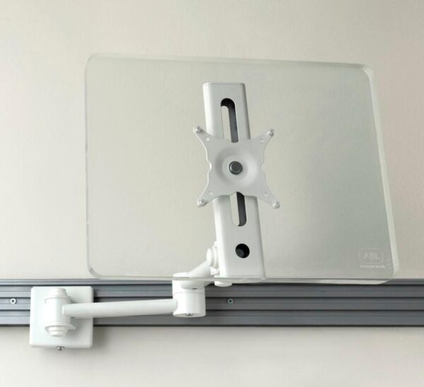 perspect screen on monitor arm