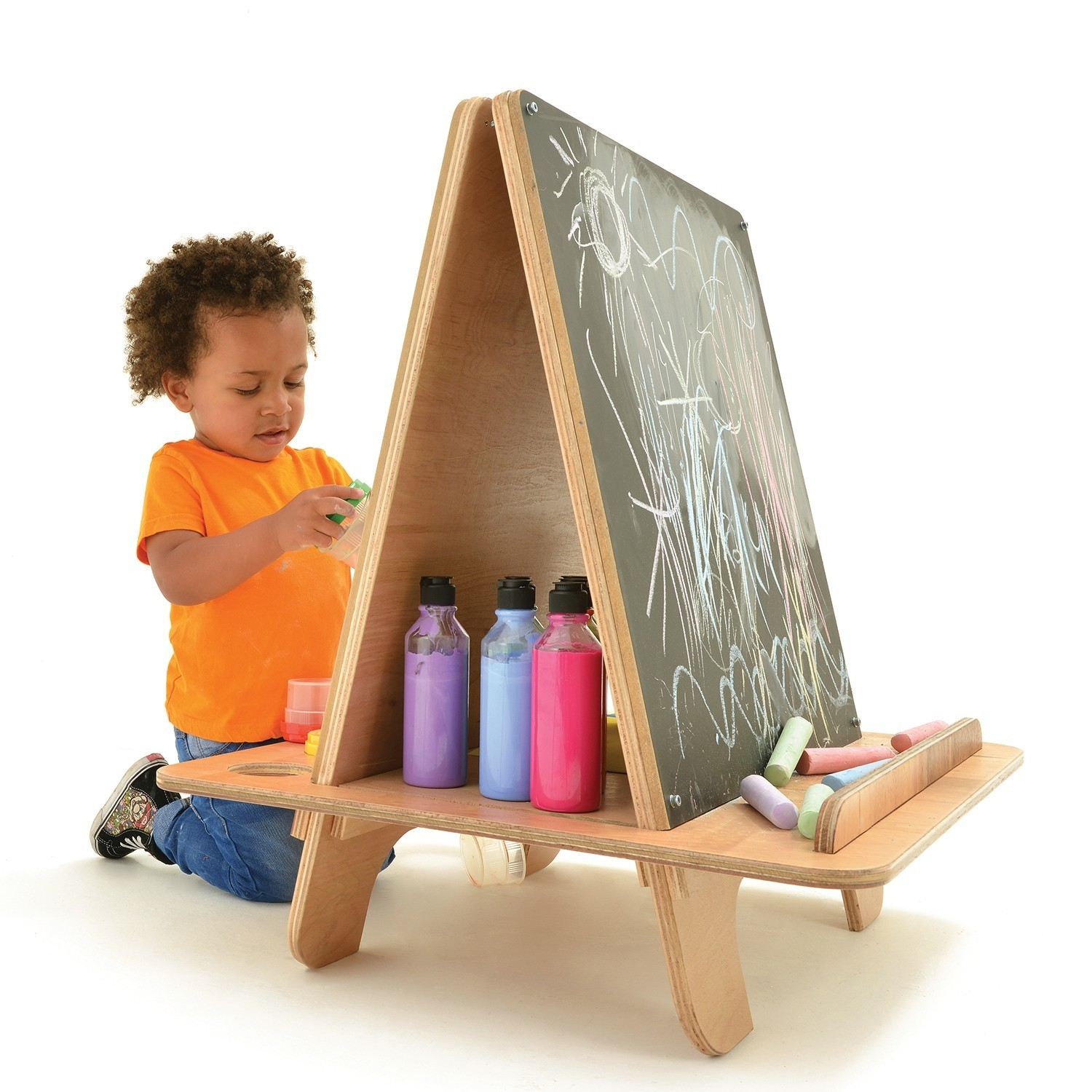 kids arts and craft 2 way easel