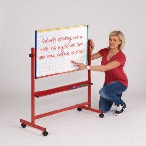 mobile white board with grid