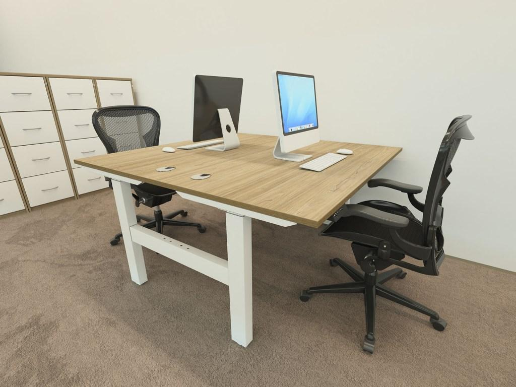 Volt Height Adjustable Double Bench Desk Somercotes