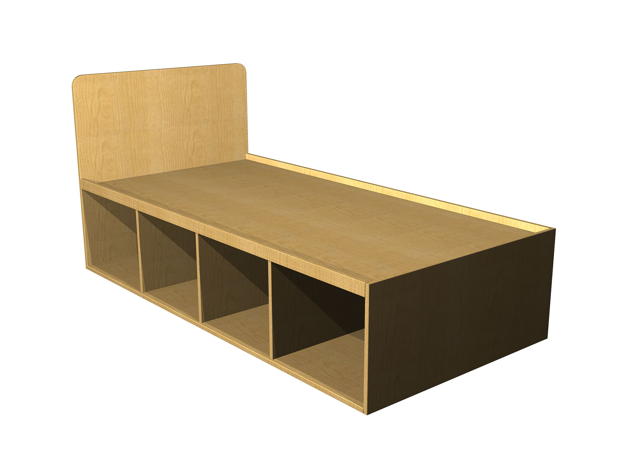 Student bed single with storage