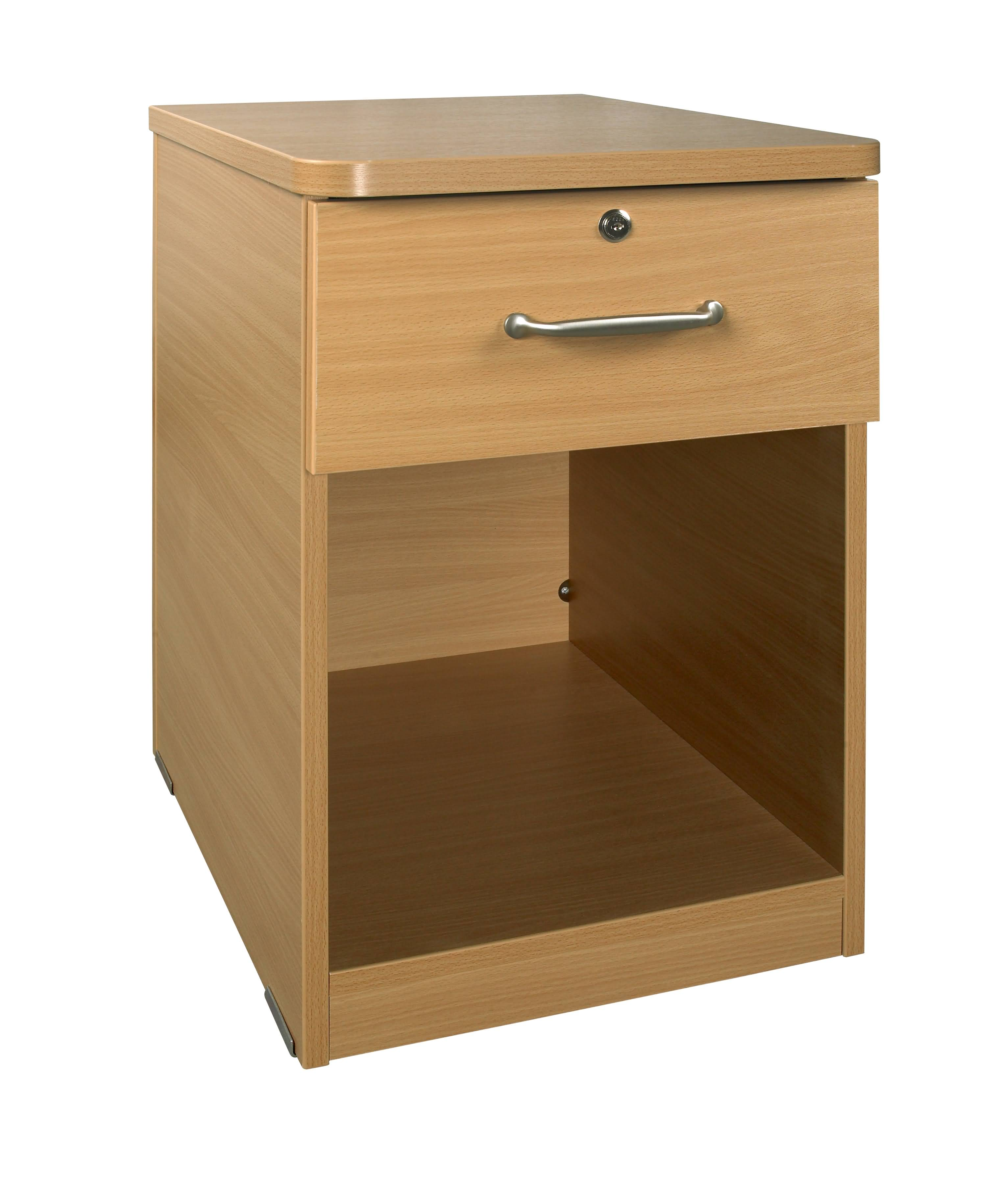 FUSMBC02 Bedside Cabinet 1 Drawer Open