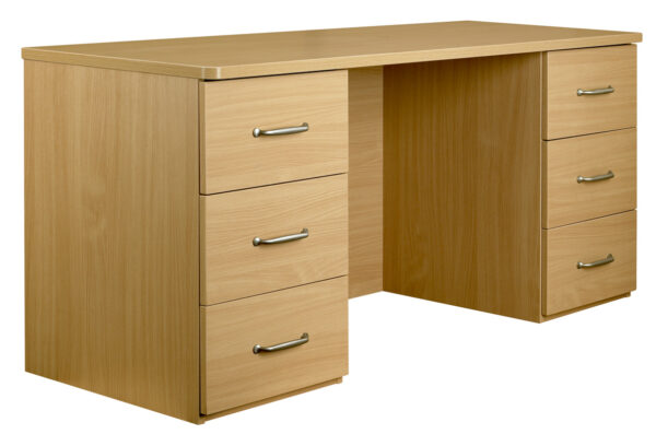 Dressing table with two sets of drawers