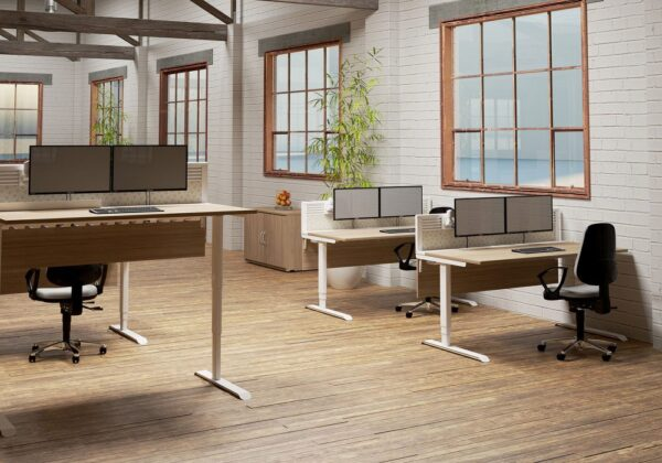 Evolution height adjustable desks roomshot