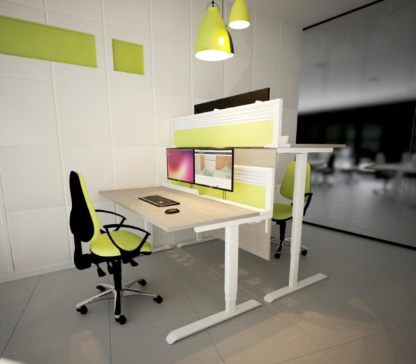 Evolution height adjustable desk roomshot