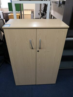 Japanese Ash 1200 high cupboard with one handle sliding off
