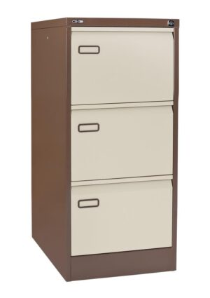 3 drawer coffee and cream filing cabinet