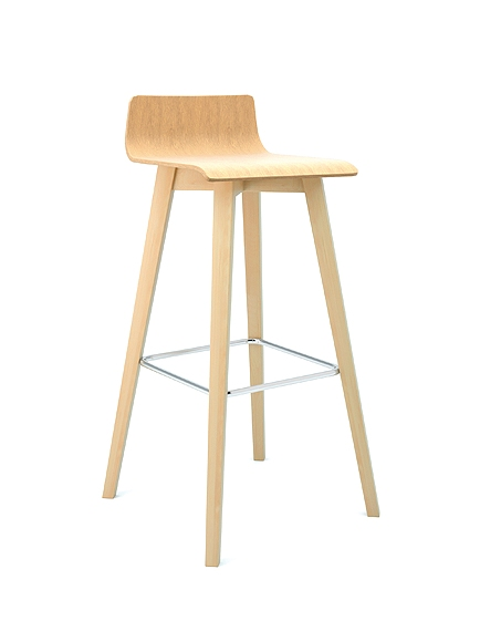 Bjorn wooden frame and seat barstool