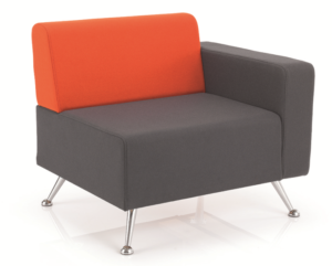mosaic reception seating armchair with one arm