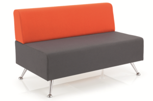 mosaic reception seating two seater sofa no arms
