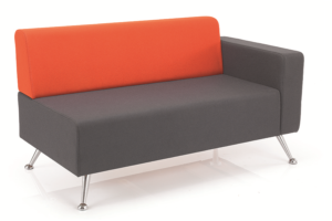 mosaic reception seating two seater with one arm