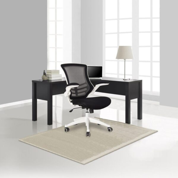 Apollo operator chair black mesh and white frame