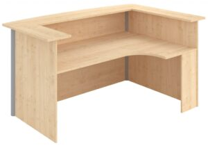J shaped reception unit with high unit